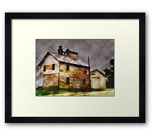 Rain Along a Country Road Framed Print