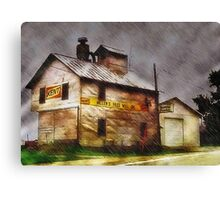 Rain Along a Country Road Canvas Print