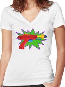 Disintegrator Women's Fitted V-Neck T-Shirt