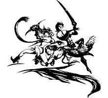Final Fantasy X-2 (black logo) Photographic Print