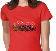 Greyhounds Gingerbread Man Sleigh Holiday  Womens Fitted T-Shirt