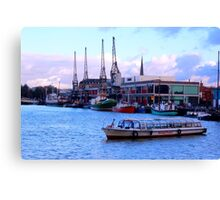 Harbour with Historical crains Bristol Canvas Print