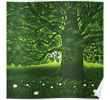 Greenman - acrylic painting Poster