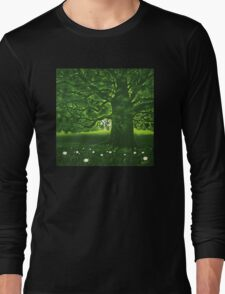 Greenman - acrylic painting Long Sleeve T-Shirt