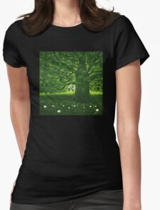 Greenman - acrylic painting Womens Fitted T-Shirt