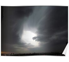 Stormy evening in New York City  Poster