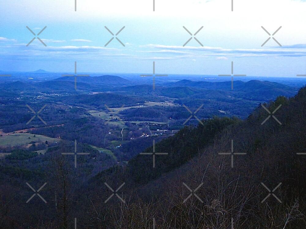 twilight  on high piney spur -blue ridge parkway by LoreLeft27