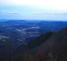 twilight  on high piney spur -blue ridge parkway by LoreLeft27