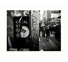 Canal Street, N.Y.C Art Print