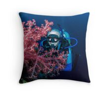 Soft Coral Inspection Throw Pillow