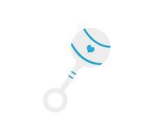 Blue rattle by ilovecotton