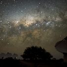 ASKAP Radiotelescope at Night by Alex Cherney