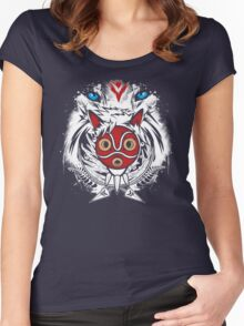 Forest Spirit Protector Women's Fitted Scoop T-Shirt