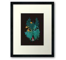 The woods belongs to me Framed Print