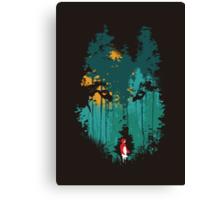 The woods belongs to me Canvas Print