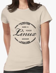 Linux Sudo  Womens Fitted T-Shirt