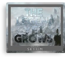 The Legend Yet Grows Canvas Print