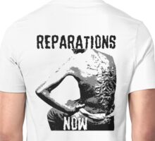REPARATIONS NOW BATTERED SLAVE BACK SHIRT. (light) Unisex T-Shirt