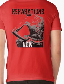 REPARATIONS NOW BATTERED SLAVE BACK SHIRT. (light) Mens V-Neck T-Shirt