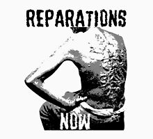 REPARATIONS NOW BATTERED SLAVE BACK SHIRT. (light) Unisex T-Shirt