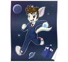 10th Doctor David Tennant Kitty Poster