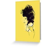 Mei the painter Greeting Card