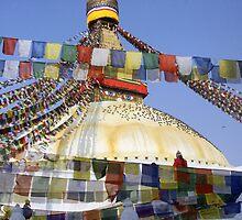 Boudnath Stupa by Harry Oldmeadow