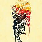 Painted watercolor tiger by Budi Satria Kwan