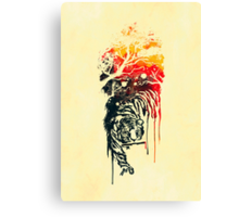 Painted watercolor tiger Canvas Print