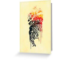 Painted watercolor tiger Greeting Card