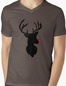 Rudolph Christmas Mens V-Neck T-Shirt