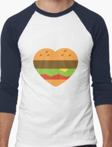 I heart burgers Men's Baseball ¾ T-Shirt