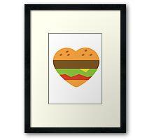 I heart burgers Framed Print