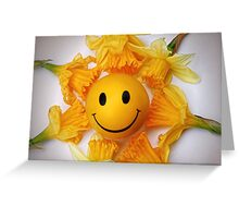 Daffodil's and the smiling ball Greeting Card