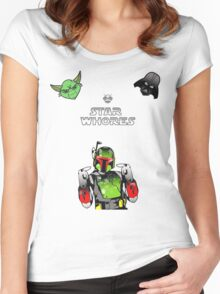 Boba not listening Women's Fitted Scoop T-Shirt