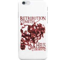 Four Horsemen of the Apocalypse, Revenge, Durer, Retribution Cometh & Hell's Close behind! Biblical, Bible, Red Shadow on White iPhone Case/Skin