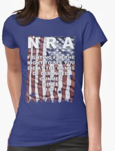 Stop the NRA Womens Fitted T-Shirt