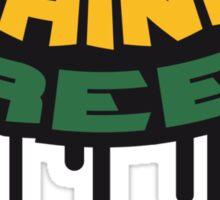 Think Green Graffiti Sticker
