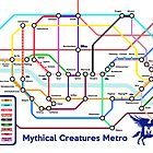 Epic Mythical Creatures Underground Map by jezkemp