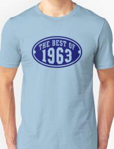 THE BEST OF 1963 Birthday T-Shirt Navy Unisex T-Shirt