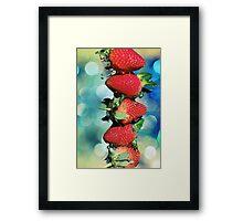 Berry Bokeh Framed Print