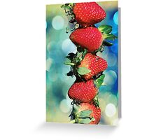 Berry Bokeh Greeting Card