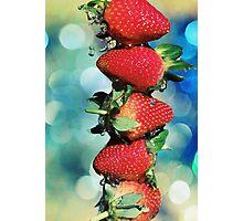 Berry Bokeh Photographic Print