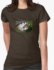 White Daisy and Butterfly T-Shirt