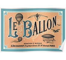 Vintage Hot Air Balloon Poster Poster