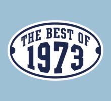 THE BEST OF 1973 Birthday T-Shirt Navy/White by MILK-Lover