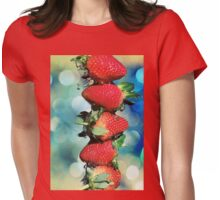 Berry Bokeh Womens Fitted T-Shirt