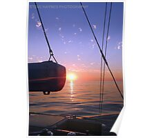 Red sky at night, sailors delight. Poster