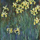 Claude Monet - Yellow Irises  by TilenHrovatic