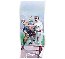 Old Baseball Illustration Poster
